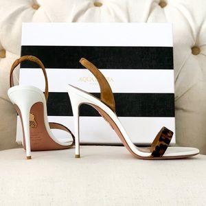 AQUAZZURA Leopard White Sandals
